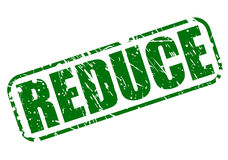 Reduce green stamp text Royalty Free Stock Photos