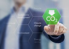 Free Reduce Greenhouse Gas Emission For Climate Change And Sustainable Development Stock Photography - 219609172
