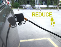 Reduce oil , blur Royalty Free Stock Photo