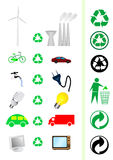 Reduce/recycle concept. Collection of reduce/recycle concept elements Stock Image
