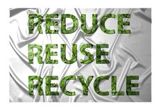 Reduce, reuce, recycle Royalty Free Stock Photos