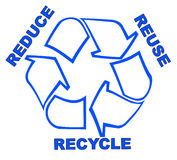 Reduce reuse recycle. Recycle symbol with words reduce reuse recycle Stock Photo