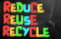 Reduce Reuse Recycle Concept Stock Image