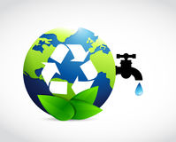Reduce reuse and recycle globe water concept. Illustration design Royalty Free Stock Photography