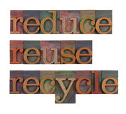 Reduce, reuse and recycle - resource conservation royalty free stock images