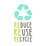 Reduce, reuse, recycle. Royalty Free Stock Photos