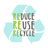 Reduce, reuse, recycle. Royalty Free Stock Photo