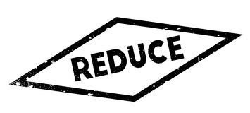Reduce rubber stamp Stock Image