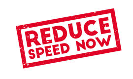 Reduce Speed Now rubber stamp Stock Images