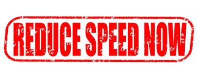Reduce speed now vintage stamp on white background. Reduce speed now vintage stamp isolated on white background Stock Photos