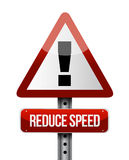 Reduce speed road sign illustration design Stock Photo