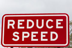 Reduce Speed warning Sign. Reduce Speed Road Sign. New South Wales, Australia Stock Illustration