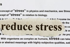 Reduce stress Royalty Free Stock Photography