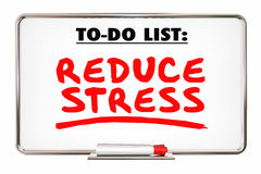 Reduce Stress Writing Words Marker Relax Stock Photography