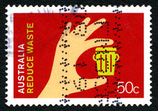 Reduce Waste Australian Postage Stamp Stock Photography