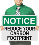 Reduce Your Carbon Footprint Stock Images