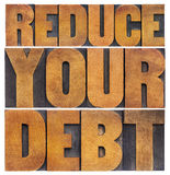 Reduce your debt Royalty Free Stock Photo