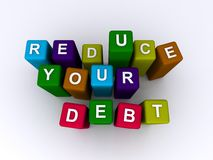 Reduce your debt Stock Image