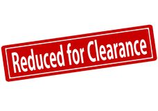Reduced for clearance. Rubber stamp with text reduced for clearance inside, illustration royalty free illustration
