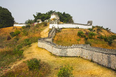 The reduced copy of the Great Chinese wall Royalty Free Stock Photography
