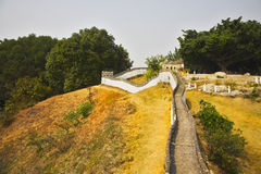 The reduced copy of the Great Chinese wall Stock Images