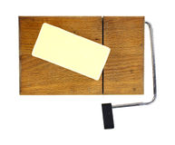 Reduced Fat Cheese Cutting Board Stock Images