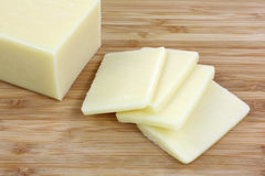 Reduced Fat Cheese Slices Royalty Free Stock Image