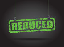 Reduced hanging sign Royalty Free Stock Photography