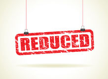 Reduced hanging sign Royalty Free Stock Photo