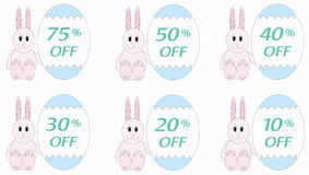Reduced prices on Easter eggs Royalty Free Stock Images