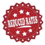 Reduced rates grunge stamp Royalty Free Stock Image