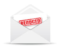 Reduced red open envelope Royalty Free Stock Image
