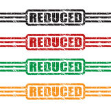 Reduced stamp set Stock Photos