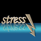 Reduced stress vector. Reduced stress with arrow and surreal reflection Stock Photos