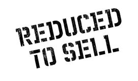 Reduced To Sell rubber stamp Stock Image
