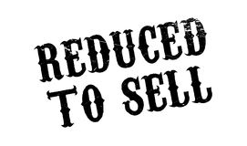 Reduced To Sell rubber stamp Stock Photography