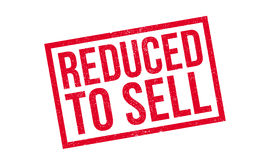 Reduced To Sell rubber stamp Stock Images