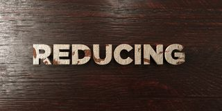 Reducing - grungy wooden headline on Maple  - 3D rendered royalty free stock image Royalty Free Stock Photo
