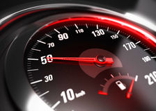 Reducing Speed Safe Driving Concept - 50 Km h Stock Photography