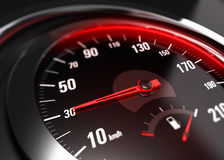 Reducing Speed Safe Driving Concept - 30 Km h Royalty Free Stock Photos