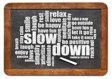 Reducing stress tips Royalty Free Stock Photos