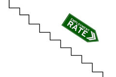 Reduction graph of employment rate Royalty Free Stock Photo