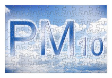 Reduction of particulate matter PM10 in the air -  concept ima Royalty Free Stock Photography