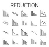Reduction related vector icon set. royalty free illustration