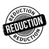 Reduction rubber stamp Stock Image