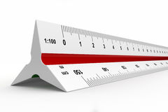 Reduction scale ruler Stock Photos
