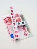 Redukcja podatku Euro teren Obraz Stock