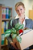 Redundant Businesswoman In Office Stock Photos