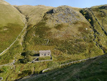 Redundant filter house for Hayeswater, Lake District Royalty Free Stock Photos