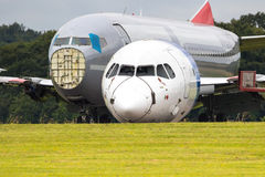 Redundant Passenger Airliners Being Dismantled Stock Images